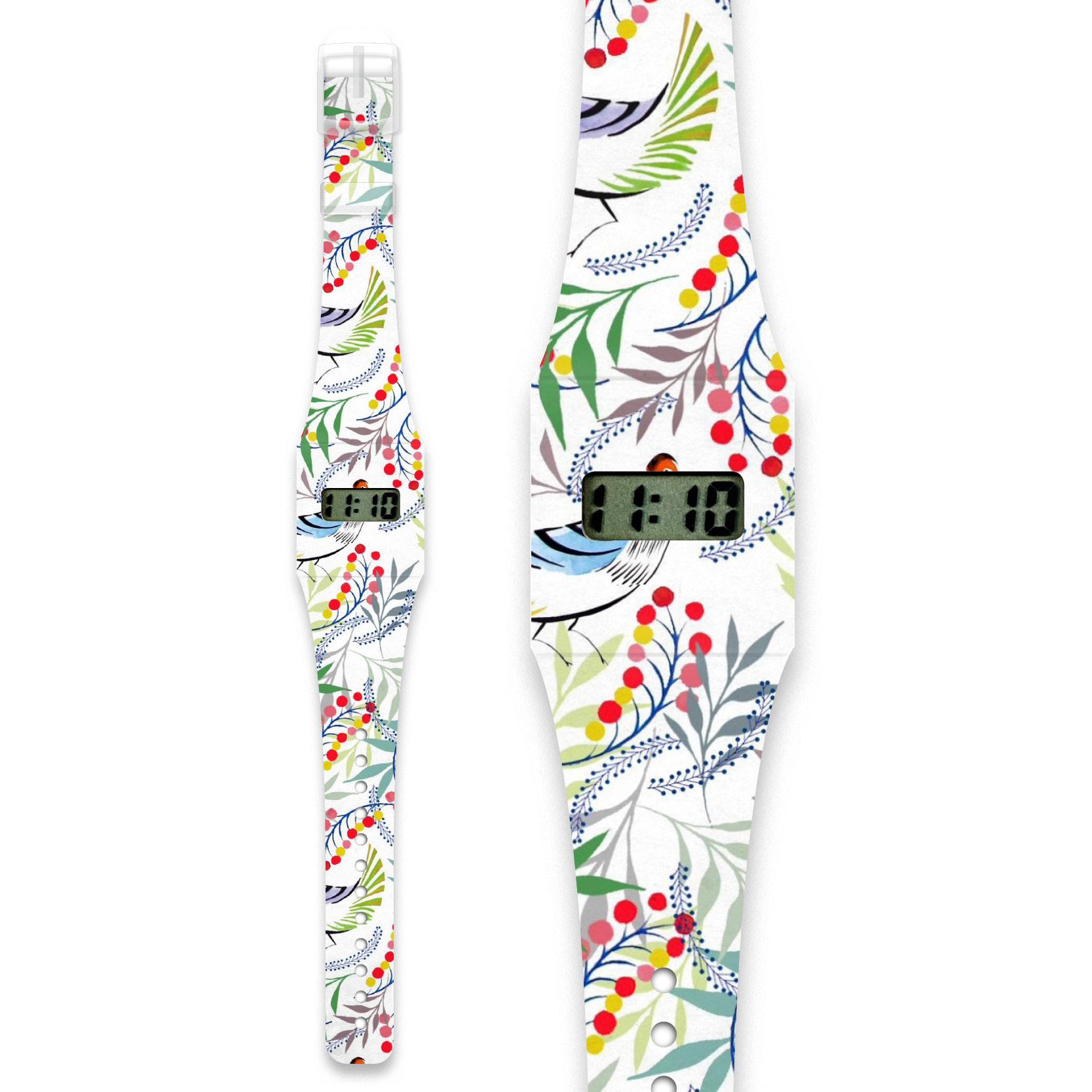 Pappwatch hodinky – Florality bird – Hudry Hudry 6583c1c7a9