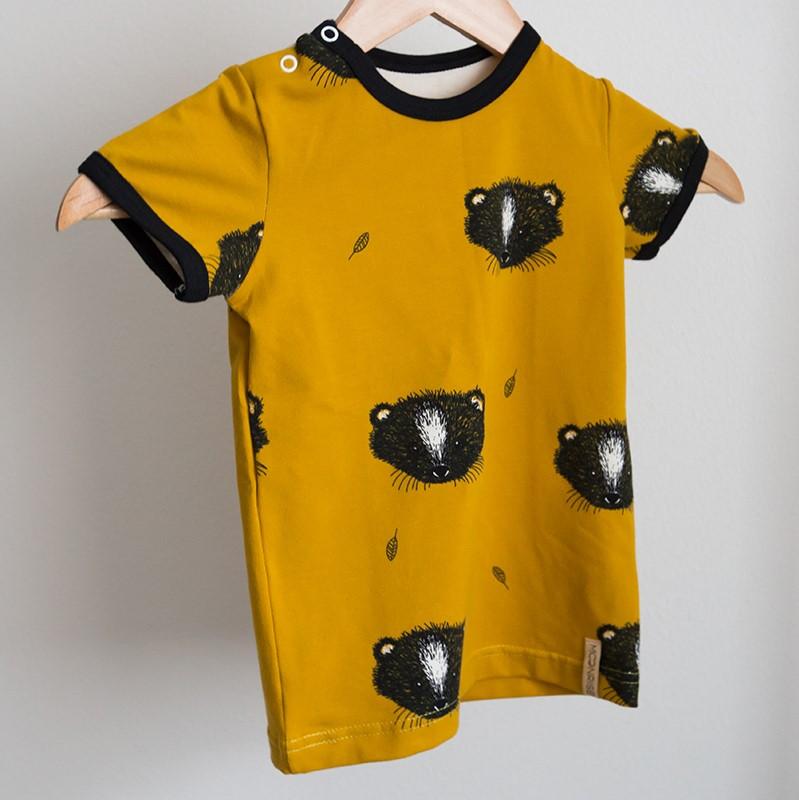 7c8d80b0e2 BIO tričko Little animal horčicové – Hudry Hudry