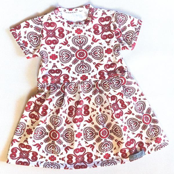 2e4aa5d416a1 Šaty Red Folk Ornament – Hudry Hudry