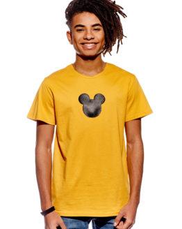 fa7eea8b6305 Pískacie pánske tričko horčicové – mickey